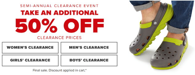 7d32d34d7 Crocs  Get An Extra 50% Off Clearance Thru 9 18