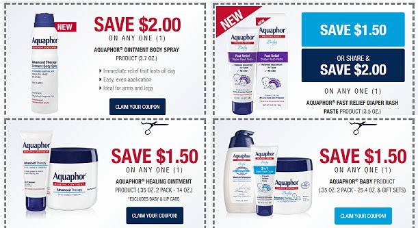 image relating to Aquaphor Printable Coupon identify $7 within just Aquaphor Coupon codes + B1G1 50% Off Youngster Offer