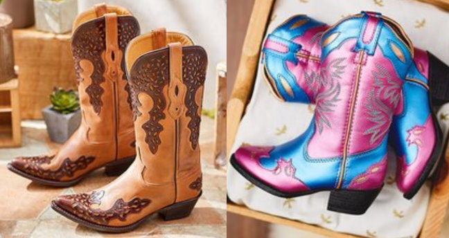 9c65888a5 Today Zulily is having a Big Sale on Cowboy Boots for the Whole family.  There are tons of styles available with up to 60% off in sizes for the  whole family ...