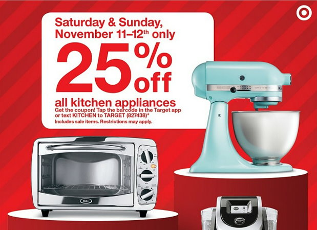 Hot Mobile Coupon Coming Get An Extra 25 Off All Kitchen Appliances At Target Saturday Sunday Totallytarget Com