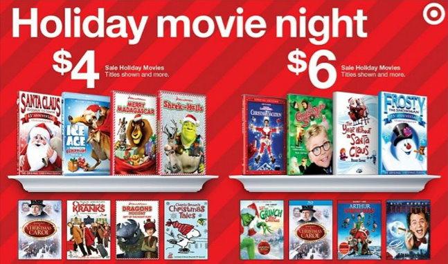 Target Holiday Favorites Movie Sale In