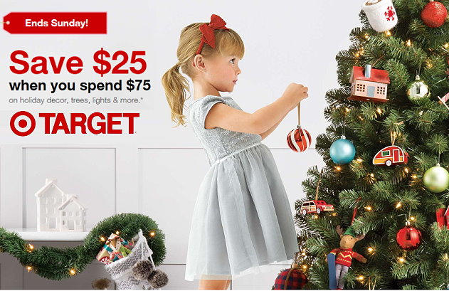 thru tomorrow sunday 1126 target is offering up a nice big discount of 25 off when you spend 75 on select wondershop items both in stores online at - How Late Is Target Open On Christmas Eve