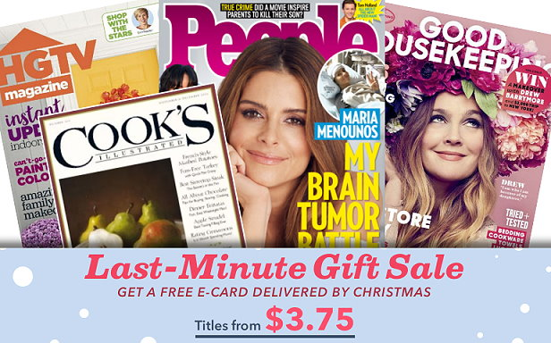 If you are looking for a last minute gift idea, you can get some really nice deals on subscriptions to tons of magazines in Discount Mags weekend sale.