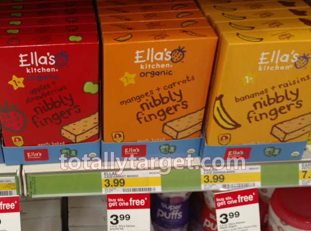 In addition, we have a printable coupon to save $1.00 OFF any ONE (1) Ella's Kitchen® Nibbly Fingers. These are included in the B6G1 FREE Target deal at ...
