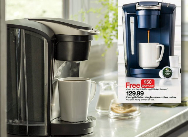 free 50 gift card wyb a keurig k select brewer totallytarget com