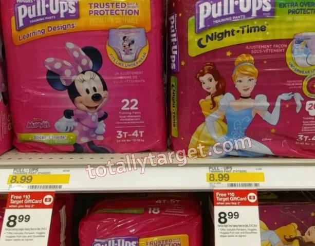 Huggies Pull-Ups Jumbo Packs only $1 99 at Target