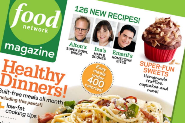 Photo of Food Network Magazine Cover