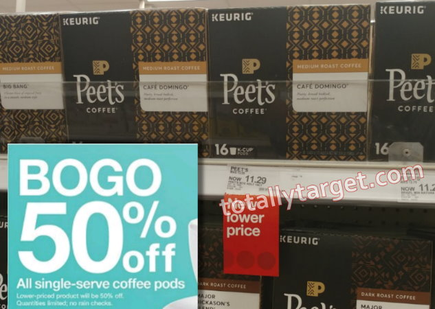 photo about Peet Coffee Printable Coupon named About 50% Off Peets Espresso K-cups with Contemporary Stack
