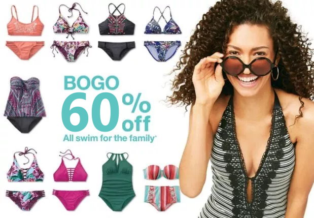352442cf53 From now until April 14th, Target is offering up a B1G1 60% Off Deal on  Swimwear for the family online only at Target.com. No code is needed, ...