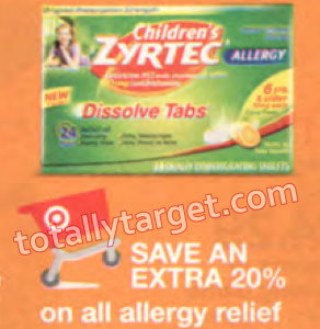 photograph about Zyrtec Coupon Printable named Around $50 Inside Printable Discount codes In direction of Preserve Upon Allergy Reduction Additionally