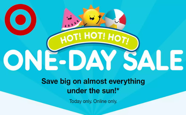 dae1ba5b01ac Target.com is hosting a BIG one-day online-only sale event today only