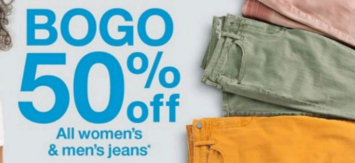 1caaed6e71f8 Even better – also this week thru September 22nd, Target.com is offering up  a B1G1 50% Off sale on Women's Jeans online and in store.