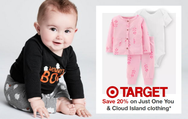 462a30d93 Target: Extra 20% Off Select Baby Clothing In Stores & Online – Save on  Just One You, Gerber & Cloud Island