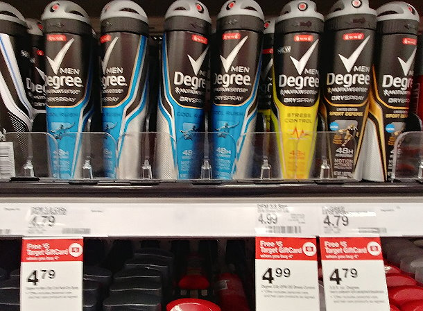 3ac80f82707 DEAL IDEA  Buy 4 Degree Men Dry Spray Deodorant (PSA  4.99)    19.96 - 6  (use two  3 2 Dove Men+Care Degree Axe Dry Spray 11-4-18 RMNE2 x11 17