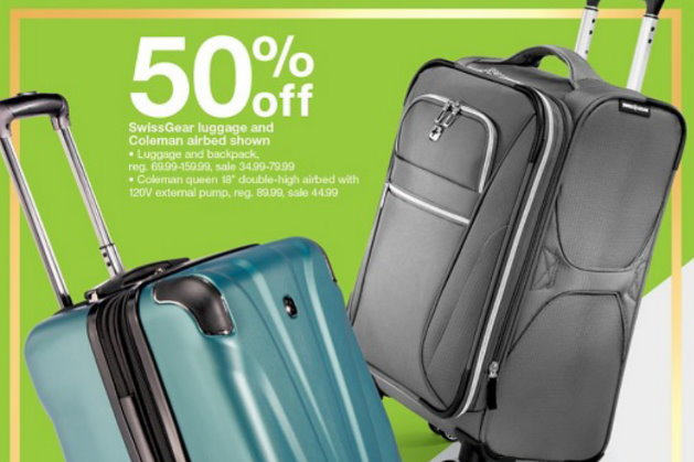 50% Off Swiss Gear Luggage   Backpacks At Target  22437dc164d7