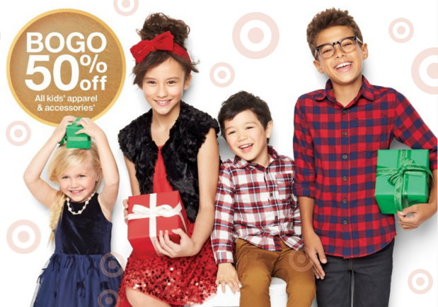 9183d235f This week thru Saturday, December 15th, Target is offering up a B1G1 50% Off  sale on select Kids apparel & accessories both in stores and online at ...