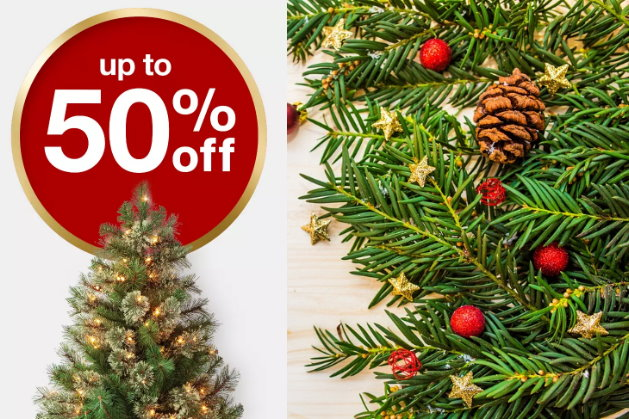 Target Christmas Clearance In Stores & Online: Get 50% Off All Christmas Trees & 30% on Decor & Lights