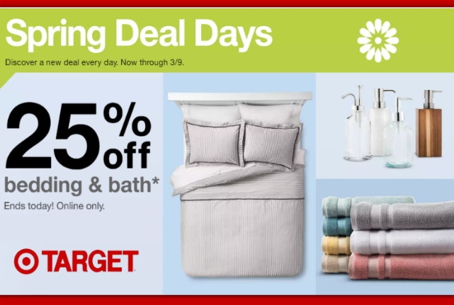 9bfa10c66bb2 Target.com  25% Off All Bedding   Bath Today Only