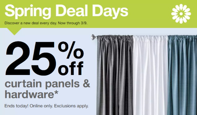 aa5693947e0f Target.com  25% Off Window Panels Today Only 3 8