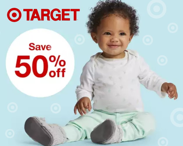 6284bfe12 Right now, Target.com is offering a nice savings of 50% off select Cloud  Island Baby Clothing & accessories. Choose from super cute Onesies, bath  robes, ...