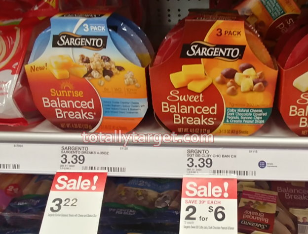 image regarding Sargento Printable Coupon identified as Refreshing Sargento Healthful Breaks Coupon Sale -