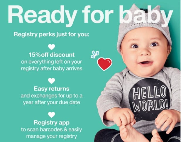 FREE Welcome Kit with $50 in Samples & Coupon Savings When You Create a Target Baby Registry