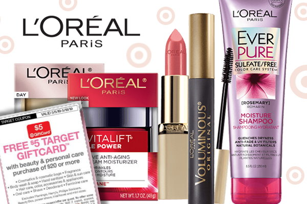ffc2bbf6a93 Save on L'Oreal Skin & Hair Care, Cosmetics and More at Target Just in Time  for Mother's Day