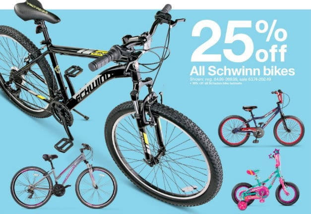 25% Off All Schwinn Bikes at Target In Stores & Online