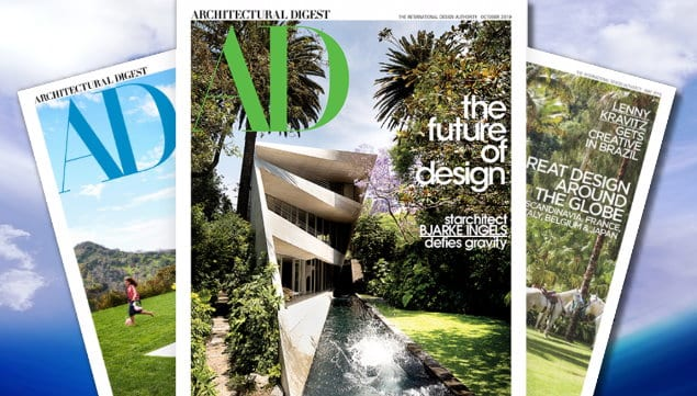 Photo of Covers of Architectural Digest Magazine