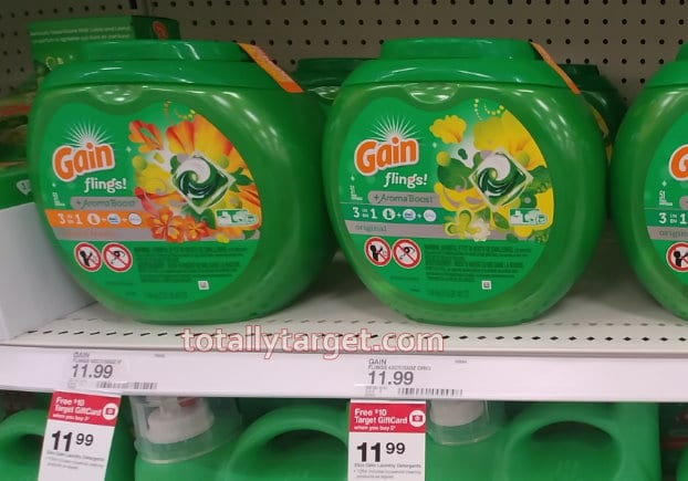 Photo of Gain Laundry Products at Target