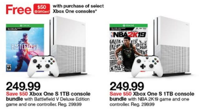 Sale + FREE $50 Gift Card with Purchase of Select Xbox One Consoles