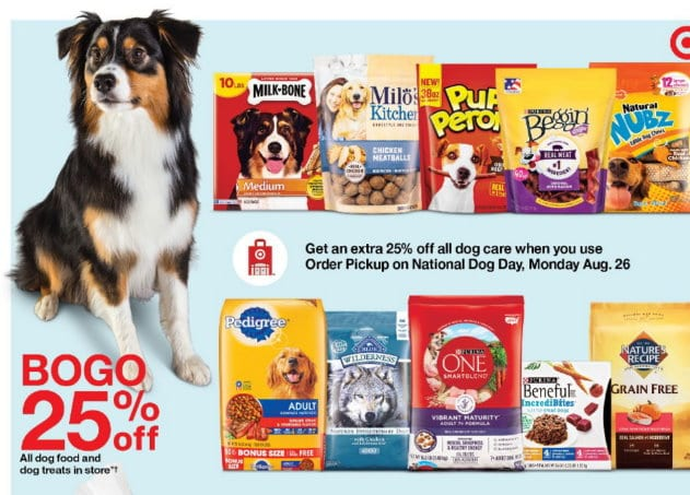 Target is Celebrating National Dog Day – Get 25% Off Online + Extra Savings with Purina Code & BOGO Deal