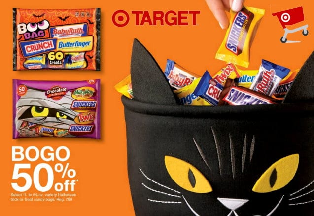 New Target Circle Offers for Halloween Candy + B1G1 50% Off