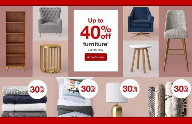 Target Online Home Sale - Save Big on Furniture, Bedding & More