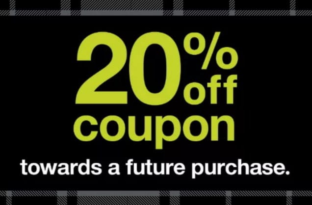 Spend $50 at Target Today Only and Get a Coupon for 20% Off a Future Purchase