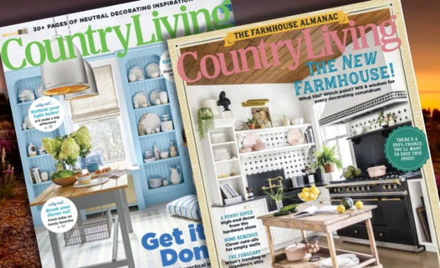 Country Living Magazine 1-Year Subscription $6.99 ...