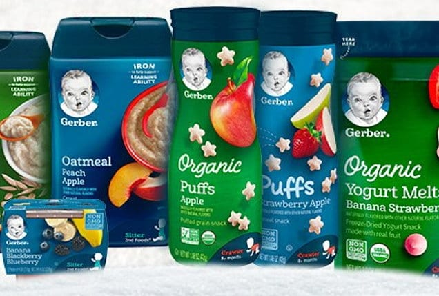 save on Gerber baby food