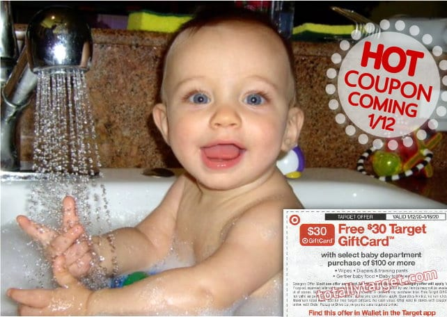 FREE $30 Target Gift Card with a $100 Baby Purchase Starting on /12