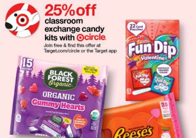 25% off Classroom exchange candy