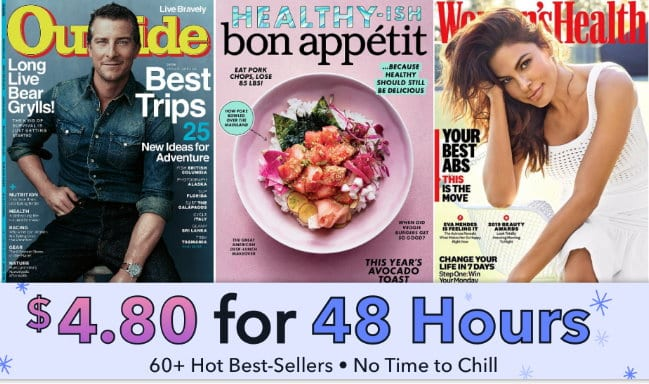 Weekend Magazine Sale - Just $4.80 for Women's Health, Bon Appetit, Outside & More