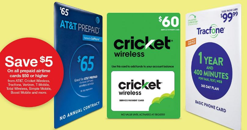 Image of Prepaid airtime card deal at target