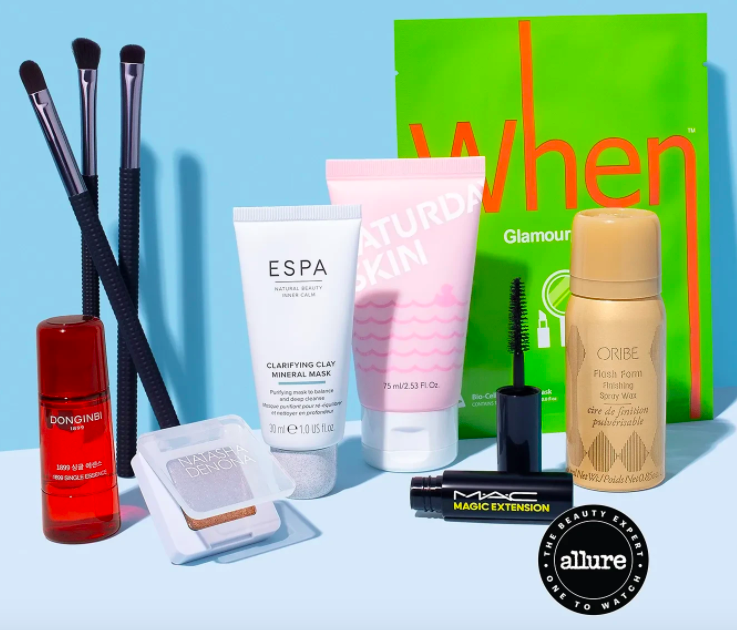 Photo of Products in the Allure Beauty Box for June