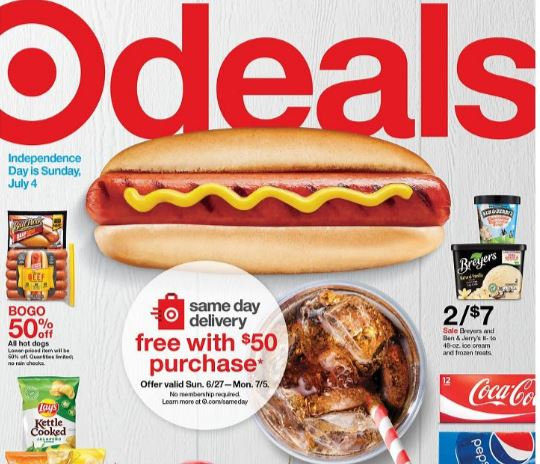 photo of the cover of the Target Ad Scan 6-27