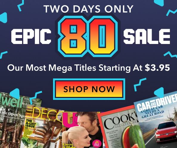 Photo of Magazines included in Epic 80 Weekend Magazine Sale