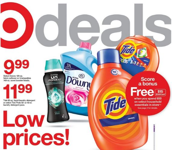 Photo of the cover of the Target Ad Scan 7/4