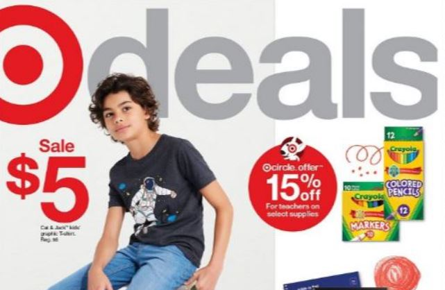 Image of the cover of the Target Ad Scan for 7-18