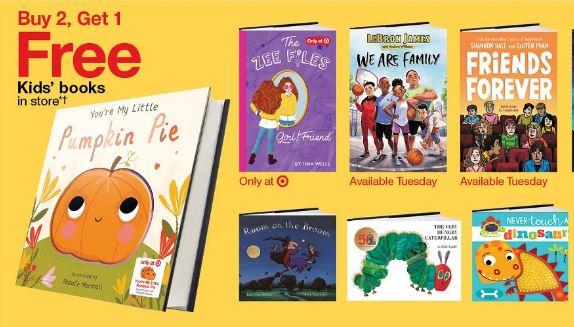 image of kids books at Target B2G1 FREE deal