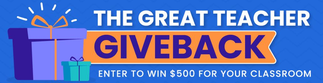 Image of banner for The Great Teacher Giveback Giveaway