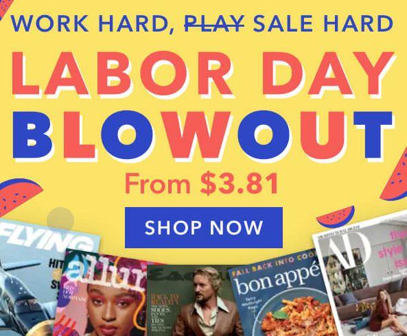 Labor Day Weekend Magazine Sale
