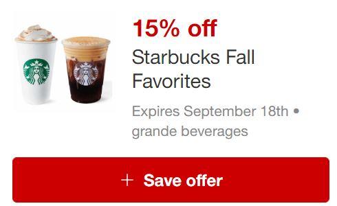 Starbucks Fall Favorites Circle